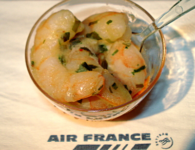 Cocktail de Crevettes roses sur Air France