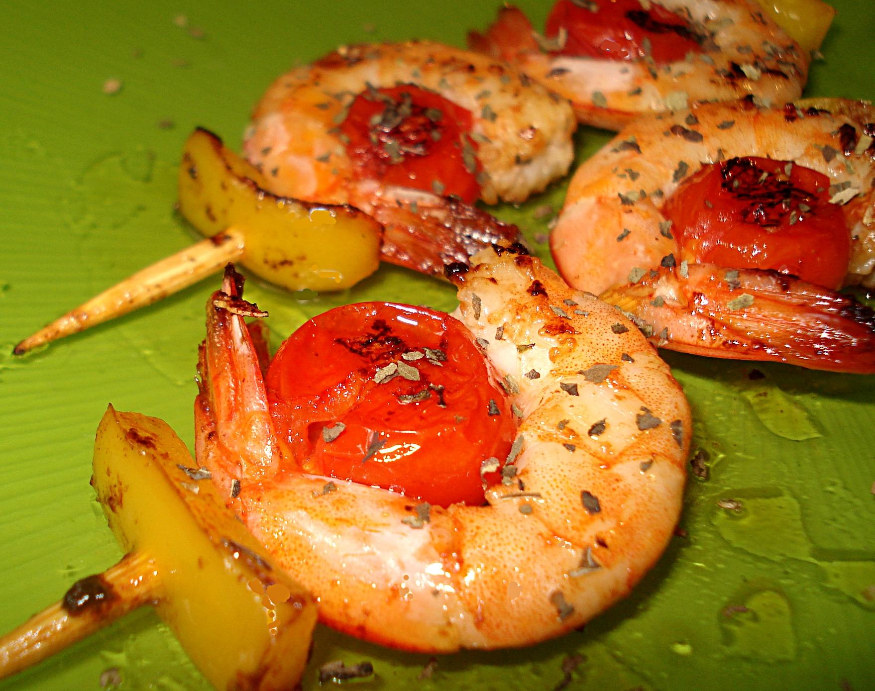 Bien connu Recette - Brochettes de Crevettes roses aux Tomates cerises RP96