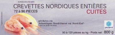 Crevettes nordiques surgelées