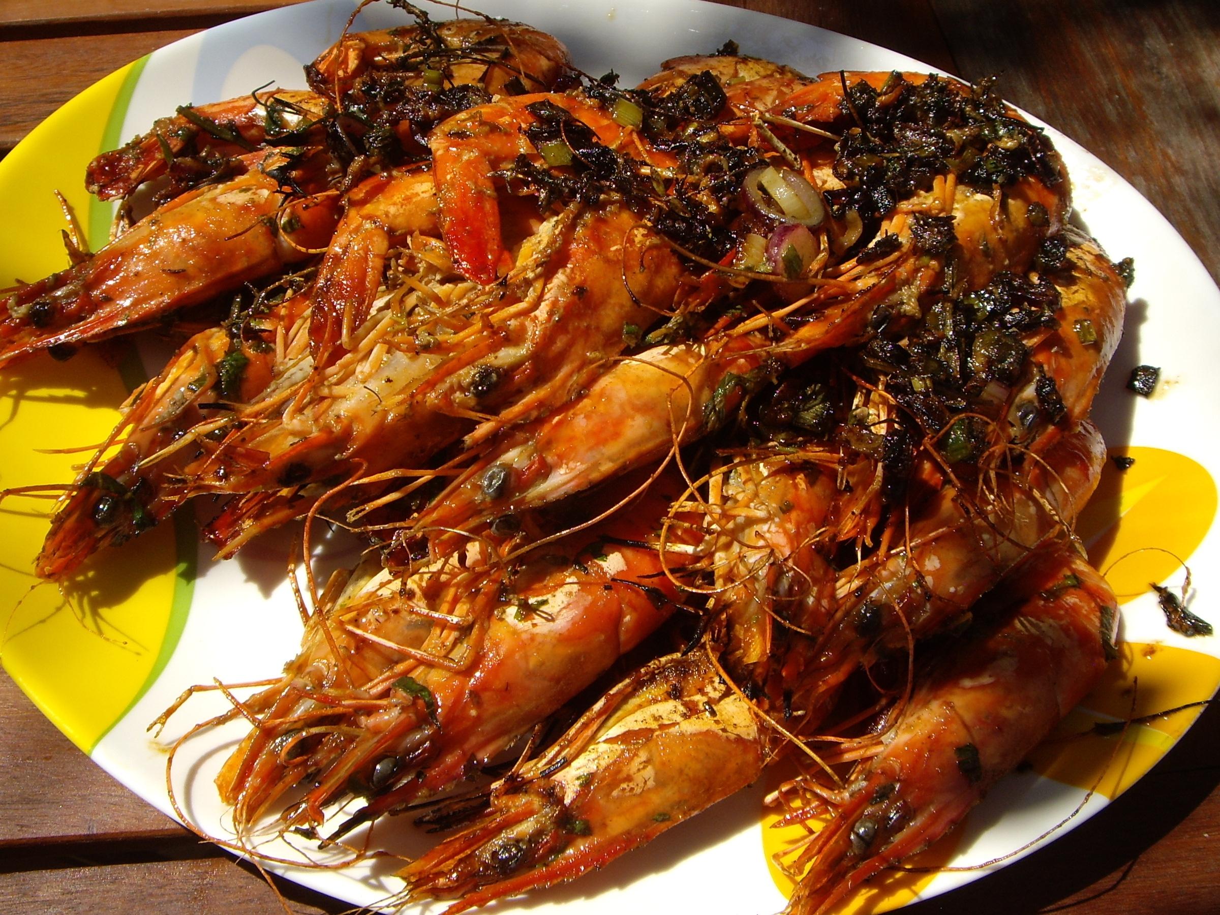 crevettes aux epices a la plancha