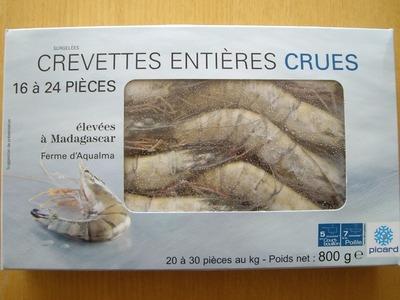 Crevettes de Madagascar surgelées