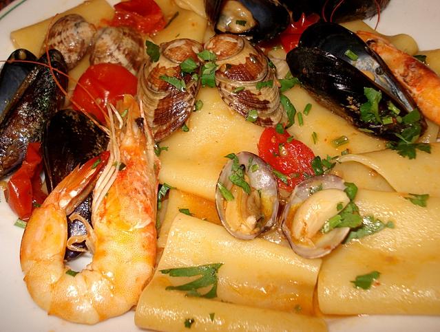 Recette p tes italiennes aux gambas et fruits de mer - Pates aux fruits de mer recette italienne ...
